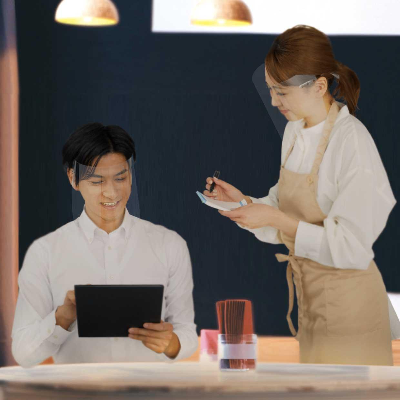 ◆接客でお客様に表情をお伝えする際、邪魔になりません。